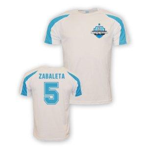 Pablo Zabaleta Man City Sports Training Jersey (white) - Kids