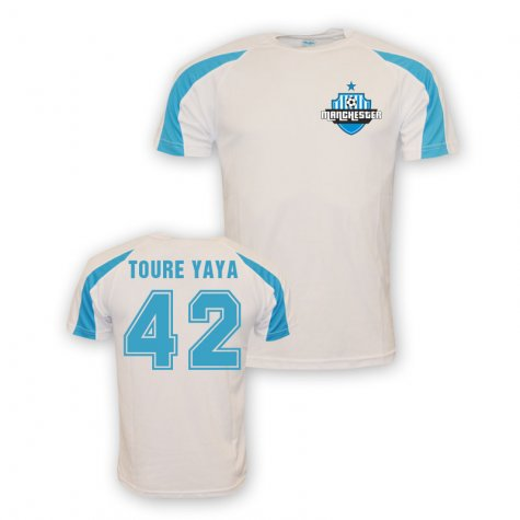 Yaya Toure Man City Sports Training Jersey (white)