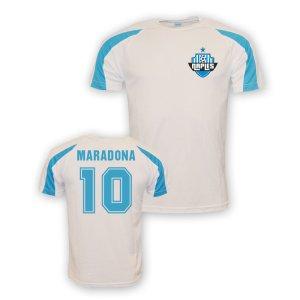 Diego Maradona Napoli Sports Training Jersey (white) - Kids