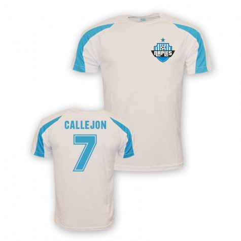 Jose Callejon Napoli Sports Training Jersey (white)