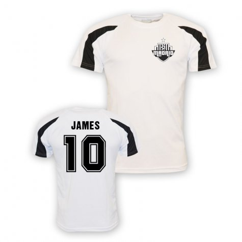 James Rodriguez Real Madrid Sports Training Jersey (white)