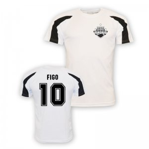 Luis Figo Real Madrid Sports Training Jersey (white)