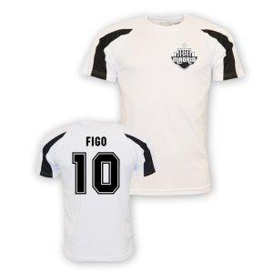 Luis Figo Real Madrid Sports Training Jersey (white) - Kids