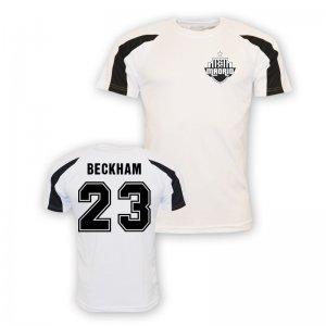 David Beckham Real Madrid Sports Training Jersey (white) - Kids
