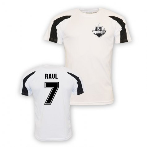 Raul Real Madrid Sports Training Jersey (white)