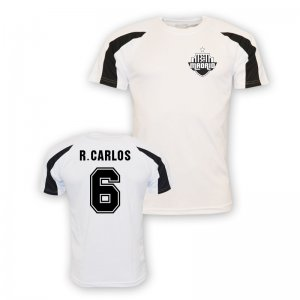 Roberto Carlos Real Madrid Sports Training Jersey (white)