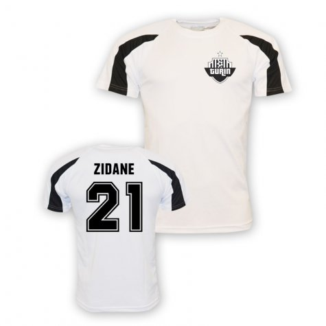 Zinedine Zidane Juventus Sports Training Jersey (white) - Kids