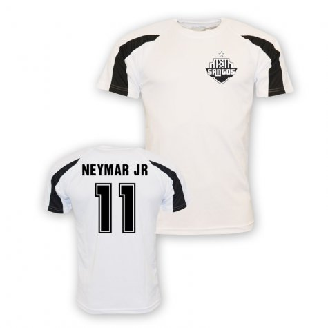 Neymar Jr Santos Sports Training Jersey (white) - Kids