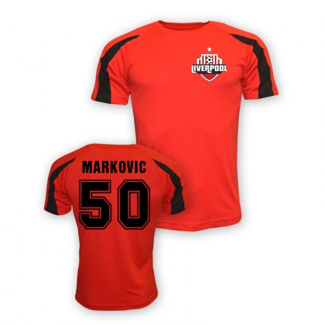Lazar Markovic Liverpool Sports Training Jersey (red)
