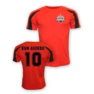 Sergio Aguero Atletico Madrid Sports Training Jersey (red)