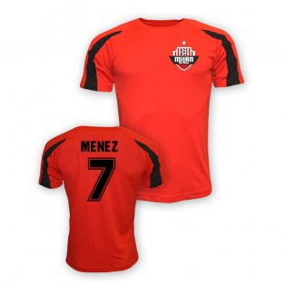 Jeremy Menez Ac Milan Sports Training Jersey (red) - Kids