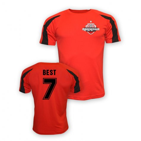 George Best Man Utd Sports Training Jersey (red) - Kids