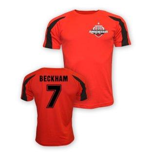 David Beckham Man Utd Sports Training Jersey (red) - Kids