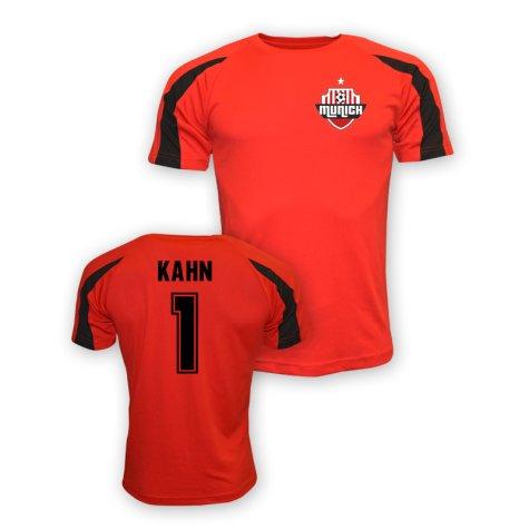 Olivier Kahn Bayern Munich Sports Training Jersey (red)