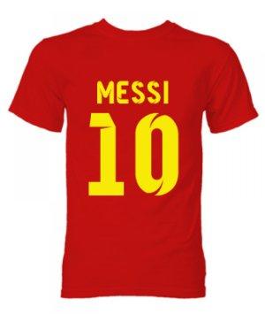 Barcelona Lionel Messi Hero T-Shirt (Red)