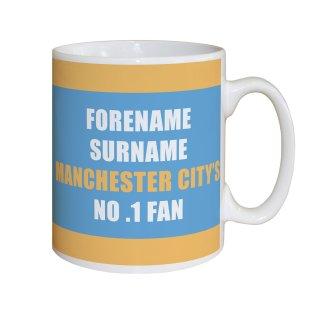 Personalised Manchester City No.1 Fan Mug
