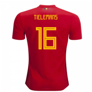 2018-2019 Belgium Adidas Home Shirt (Tielemans 16) - Kids