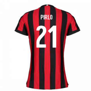 2017-2018 AC Milan Womens Home Shirt (Pirlo 21)