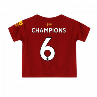 2019-2020 Liverpool Home Little Boys Mini Kit (Champions 6)