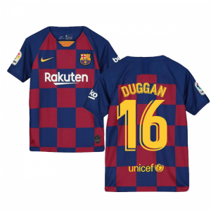2019-2020 Barcelona Home Nike Shirt (Kids) (Duggan 16)