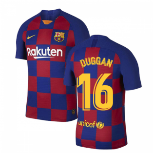 2019-2020 Barcelona Home Vapor Match Nike Shirt (Kids) (Duggan 16)