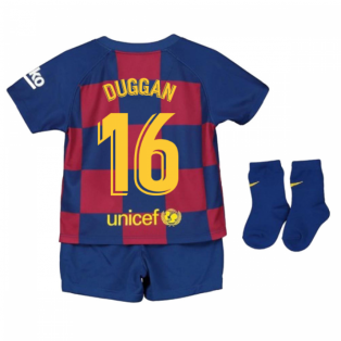 2019-2020 Barcelona Home Nike Baby Kit (Duggan 16)