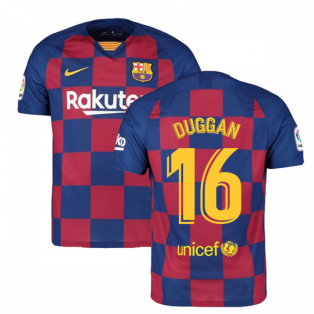 2019-2020 Barcelona Home Nike Football Shirt (Duggan 16)