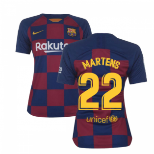 2019-2020 Barcelona Home Nike Ladies Shirt (Martens 22)