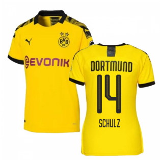 2019-2020 Borussia Dortmund Home Ladies Puma Shirt (Schulz 14)