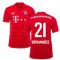 2019-2020 Bayern Munich Adidas Home Football Shirt (Hernandez 21)