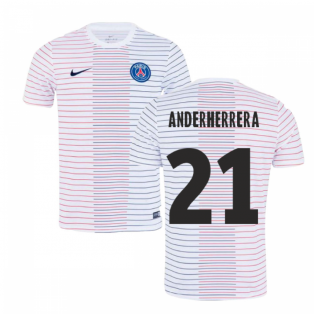 2019-2020 PSG Nike Pre-Match Training Shirt (White) - Kids (Ander Herrera 21)