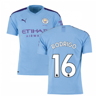 2019-2020 Manchester City Puma Home Football Shirt (Rodrigo 16)