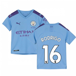 2019-2020 Manchester City Puma Home Football Shirt (Kids) (Rodrigo 16)