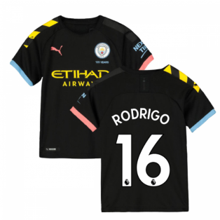 2019-2020 Manchester City Puma Away Football Shirt (Kids) (Rodrigo 16)