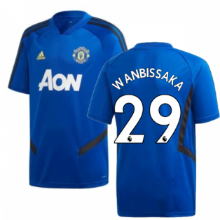 2019-2020 Man Utd Adidas Training Shirt (Blue) - Kids (Wan Bissaka 29)