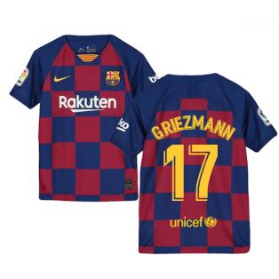 2019-2020 Barcelona Home Nike Shirt (Kids) (Griezmann 17)
