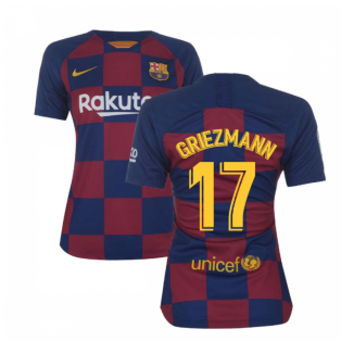2019-2020 Barcelona Home Nike Ladies Shirt (Griezmann 17)