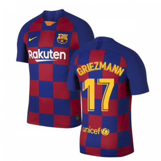 2019-2020 Barcelona Home Vapor Match Nike Shirt (Kids) (Griezmann 17)