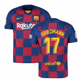 2019-2020 Barcelona Home Nike Football Shirt (Griezmann 17)