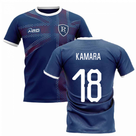 2020-2021 Glasgow Home Concept Football Shirt (Kamara 18)