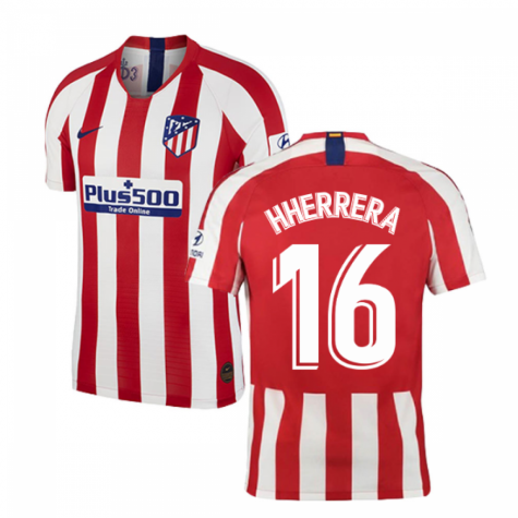 2019-2020 Atletico Madrid Vapor Match Home Shirt (H Herrera 16)