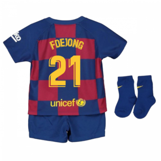2019-2020 Barcelona Home Nike Baby Kit (F De Jong 21)