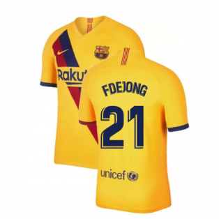 2019-2020 Barcelona Away Nike Football Shirt (F De Jong 21)