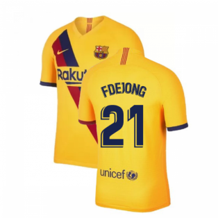 2019-2020 Barcelona Away Nike Shirt (Kids) (F De Jong 21)