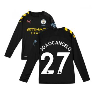 2019-2020 Manchester City Puma Away Long Sleeve Shirt (Kids) (Joao Cancelo 27)