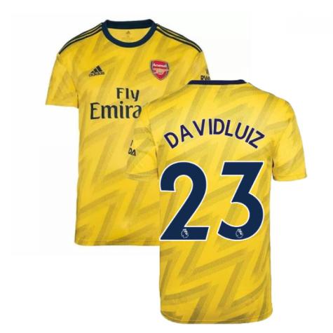 2019-2020 Arsenal Adidas Away Football Shirt (David Luiz 23)