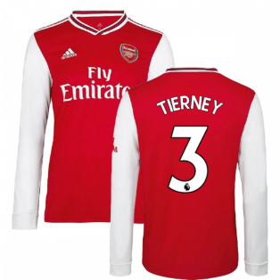 2019-2020 Arsenal Adidas Home Long Sleeve Shirt (Kids) (Tierney 3)