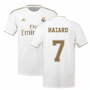 2019-2020 Real Madrid Adidas Home Shirt (Kids) (Hazard 7)