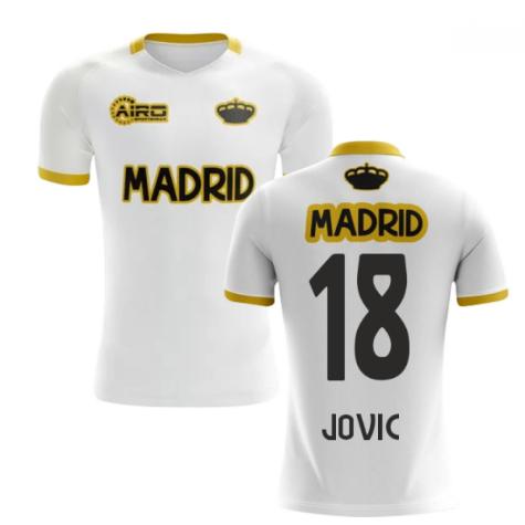 2020-2021 Madrid Concept Training Shirt (White) (Jovic 18)