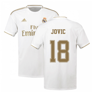 2019-2020 Real Madrid Adidas Home Shirt (Kids) (Jovic 18)